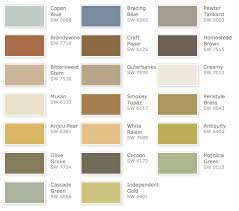 rustic refined palette sherwin williams color pallet for house