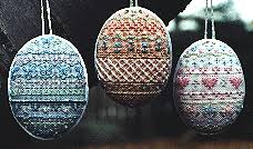 pastel easter egg cross stitch ornaments from kreinik favecrafts