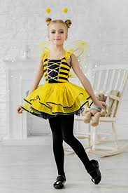 Halloween Costumes Bee Kids Girls Honey Queen Bee Halloween Costume Bumblebee Wasp Dress