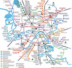 Moscow Metro Map by Location And Transportation