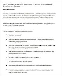 business plan template in word 10 free sample example format