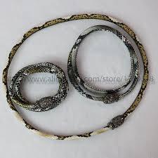 leather bracelet clasp images Hot snake skin bracelet 3 circle leather bracelet magnet clip jpg