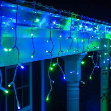 blue lights green 5mm led icicle white wire