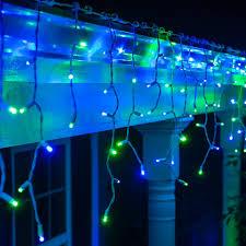 fantastic bluehristmas lights background stock