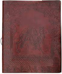 bi directional photo album photo album on sale size 10x13 genuine camel leather journal bi