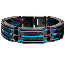 blue steel rings images Mens blue steel jewelry blue bracelets rings necklaces png