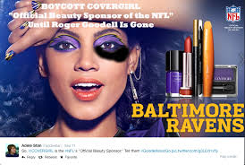 Cover Girl Meme - photoshopped covergirl ad protests nfl domestic violence