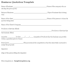 quotation template company quotation template