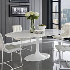 modern oval dining tables white marble dining table kitchen stone top round with faux