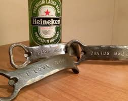 iron wedding anniversary gifts bottle opener etsy