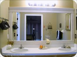 Frames For Bathroom Mirrors Lowes Minimalist Bathroom With Rectangular Bathroom Mirror Lowes White