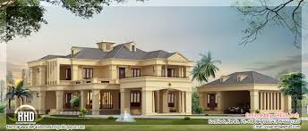 Luxury Villa In  Square Feet Kerala Home Design And Luxury - Luxury home designs plans