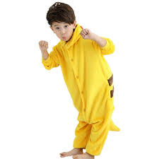 flannel pikachu costume children s pajamas