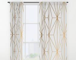 Geometric Pattern Curtains Geometric Curtains Etsy