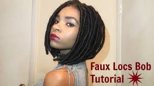 bob marley hair extensions faux locs bob tutorial youtube