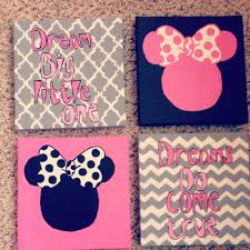 Minnie Mouse Wall art for toddler room Kids