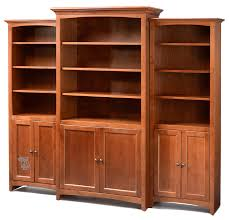 cherry wood bookshelf doherty house bookcase with bookcases doors
