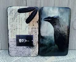 edgar allan poe wallet raven wallet nevermore gothic wallet