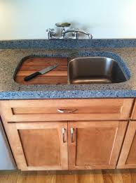 brown garbage disposal kitchen contemporary with full tang chef s