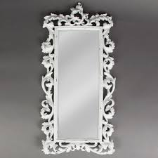chic baroque statement white brushed mirror
