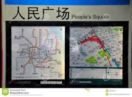 Shanghai Metro Map In Chinese by Metro Network Map At People U0027s Square Station Shanghai China