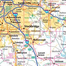 Map Atlanta Ga by Rand Mcnally Georgia State Wall Map