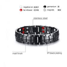 energy bracelet mens images Vnox punk healthy energy bracelet men black chain link bracelets jpeg