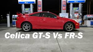 frs car white 180hp 2002 celica gts vs 205hp white scion frs youtube