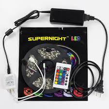 led light strips kit black pcb 16 4ft 5m waterproof flexible strip 300leds rgb smd5050