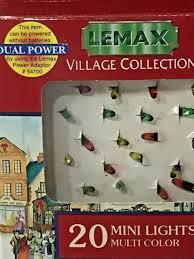 mini lights for christmas village mini lights multi color christmas village lemax collection 1996 new