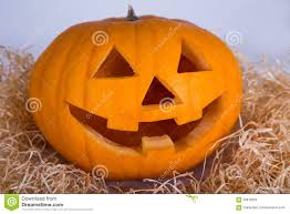 halloween concept pumpkin jack o lantern with happy face stock