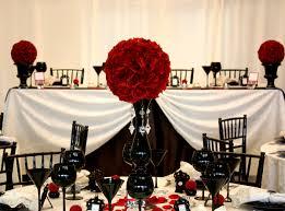 red black centerpieces for amusing black wedding centerpieces