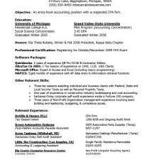 Entry Level Accounting Resume Examples by Sample Resume For Entry Level Accounting Clerk Entry Level
