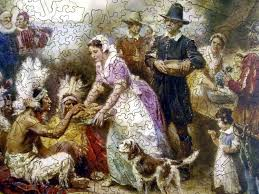 the thanksgiving 1621 wooden jigsaw puzzle liberty