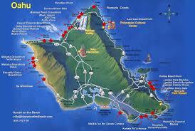Map Hawaii Oahu Tourist Map Oahu Hawaii U2022 Mappery