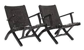 sedie pelle sedie pieghevoli in pelle per禮 anni 50 set di 2 in vendita su