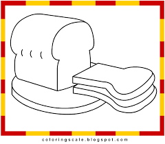 Coloring Pages Printable For Kids Bread Coloring Pages Bread Coloring Page