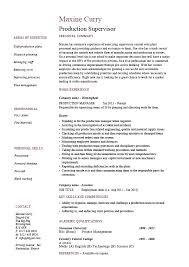 beautiful resumes production supervisor resume sle exle template beautiful