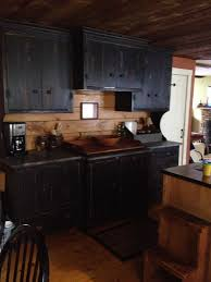 Black Kitchen Cabinets by 25 Best Black Distressed Cabinets Ideas On Pinterest Distressed