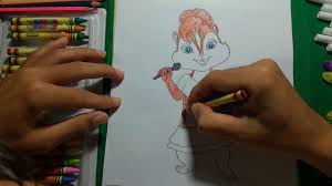 coloring brittany alvin and the chipmunk coloring book how to