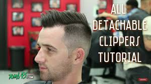 haircut with 12 clippers all detachable clipper shadow fade side part haircut barber