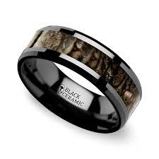 mens black wedding bands beveled dinosaur bone inlay men s wedding ring in black ceramic