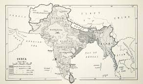 middle east map india 1941 lithograph vintage 1700 1800 rule map india territory