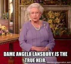 Angela Lansbury Meme - dame angela lansbury is the true heir qe2xmas meme generator
