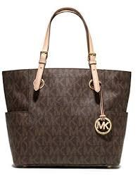 light brown mk purse michael michael kors signature tote brown one size handbags