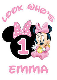 baby minnie mouse 1st birthday baby minnie mouse 1st birthday iron on transfer tshirt design