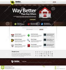 web design template element 14 dark theme royalty free stock
