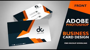 card design business card design in photoshop cs6 front photoshop tutorial