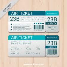 blue boarding pass template in flat design vector premium download
