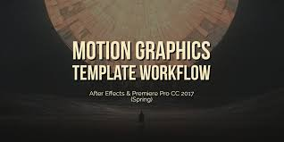motion graphics template workflow in after effects and premiere
